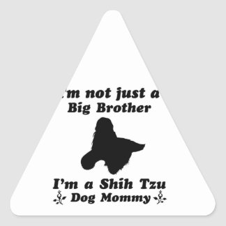 Shih Tzu Mommy Designs Triangle Sticker