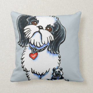 Shih Tzu Panda Throw Pillow