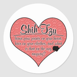 Shih Tzu Paw Prints Dog Humor Sticker