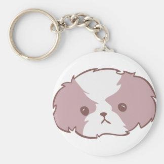 Shih Tzu pink Keychains