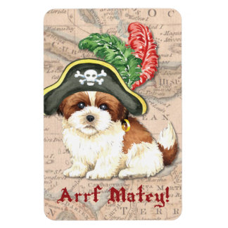 Shih Tzu Pirate Vinyl Magnet