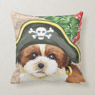 Shih Tzu Pirate Throw Pillow