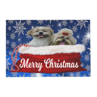 Shih tzu Placemat Christmas