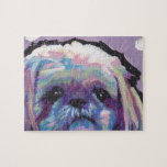 """shih tzu pop art jigsaw puzzle<br><div class=""""desc"""">Here&#39;s a wonderful,  bright,  fun,  tribute to your best friend and favorite breed- the little Shihtz!  from an original painting by Lea</div>"""