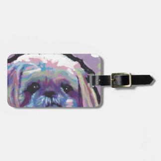 shih tzu pop dog art bag tag
