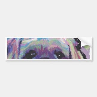 shih tzu pop dog art bumper sticker