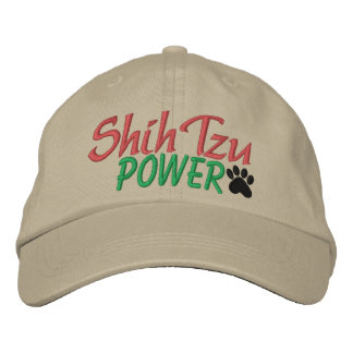 Shih Tzu Power by SRF Embroidered Baseball Cap