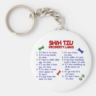 SHIH TZU Property Laws 2 Basic Round Button Keychain
