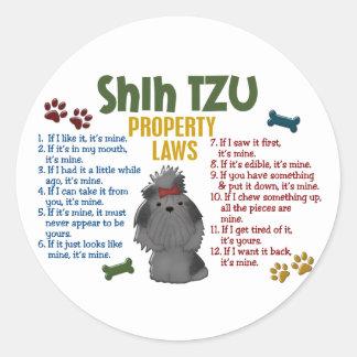 Shih Tzu Property Laws 4 Stickers