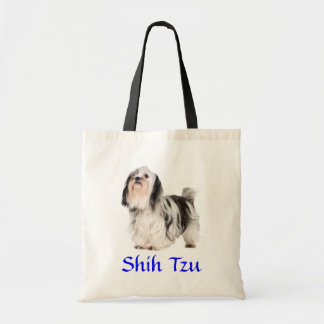 Shih Tzu Puppy Beach Canvas Tote Bag