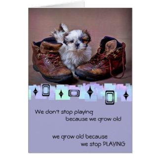 Shih Tzu Puppy Birthday Greetings Stationery Note Card