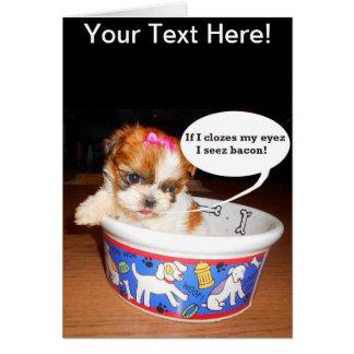Shih Tzu Puppy Greeting Card