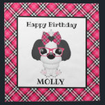 "Shih Tzu Puppy Dogs Pink Birthday Party Napkins<br><div class=""desc"">Personalize this product for a sweet addition to a puppy party.</div>"