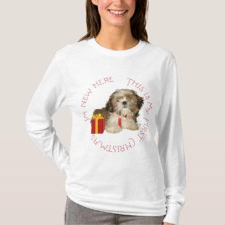 Shih Tzu Puppy First Christmas T-Shirt