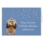 Shih Tzu Puppy Holiday Card