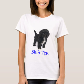 Shih Tzu Puppy  Ladies Baby Doll Fit Tee Shirt