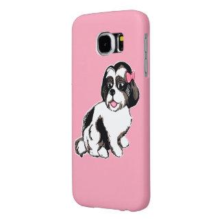 Shih Tzu Puppy Pink Samsung Galaxy S6 Case