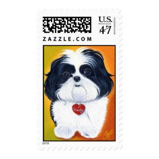 Shih tzu puppy stamp