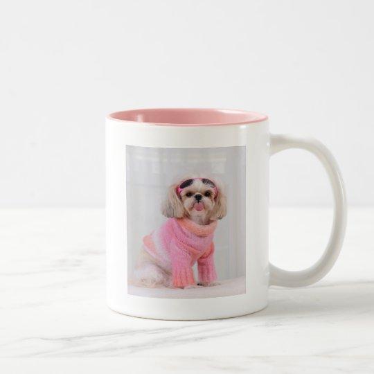Shih Tzu Puppy - The Razz Two-Tone Coffee Mug