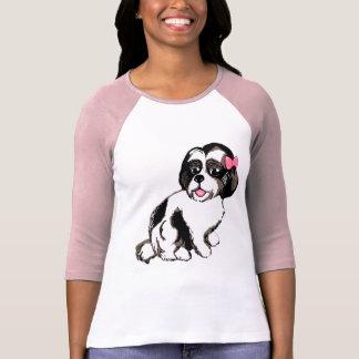 Shih Tzu Puppy Women's Bella Raglan T-Shirt