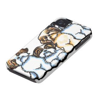 Shih Tzu Quartet iPhone 4 Case