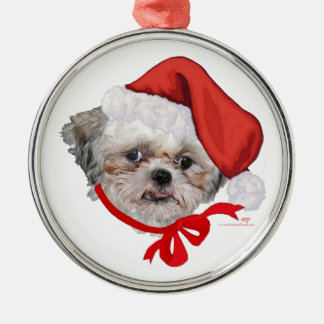 Shih Tzu Rescue Dog Happy Holidays Ornament
