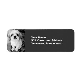 Shih Tzu Return Address Labels