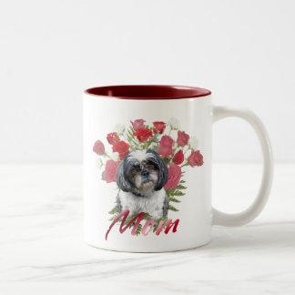 Shih Tzu Roses Two-Tone Coffee Mug
