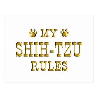 Shih-Tzu Rules Gold Postcard