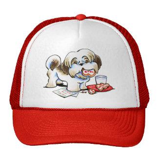 Shih Tzu Santa Cookie Thief Trucker Hat