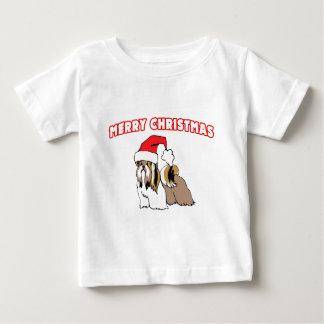 Shih Tzu Santa-Merry Christmas Baby T-Shirt
