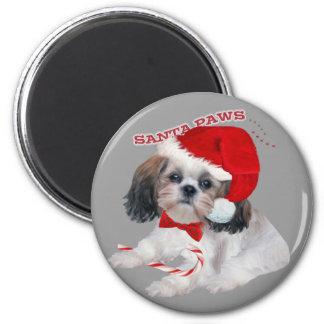 Shih Tzu Santa Paws gifts Magnet
