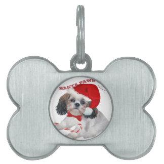 Shih Tzu Santa Paws gifts Pet Tag