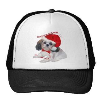 Shih Tzu Santa Paws Mesh Hats