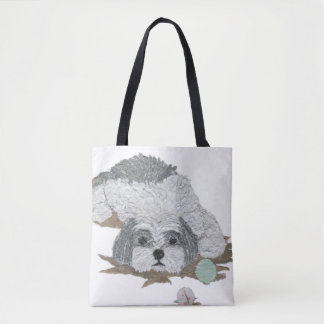 Shih Tzu, Shihtzu, Cute, Minimalist, Dog Tote Bag