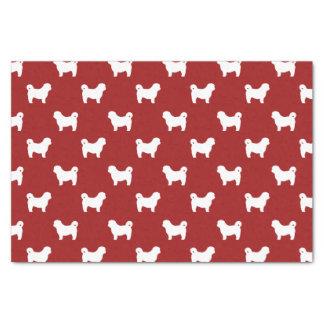 Shih Tzu Silhouettes Pattern Red Tissue Paper