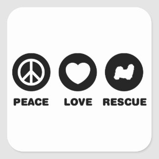 Shih Tzu Square Stickers