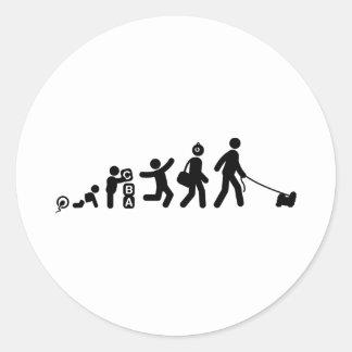 Shih Tzu Round Stickers