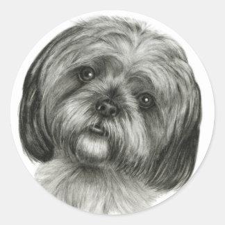 Shih Tzu Classic Round Sticker