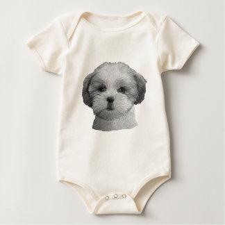 Shih Tzu - Stylized Image - Add Your Qwn Text Baby Bodysuit