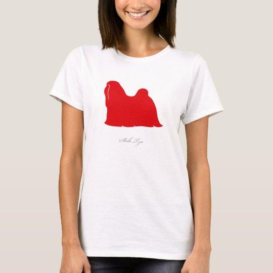 Shih Tzu T-shirt (red silhouette)