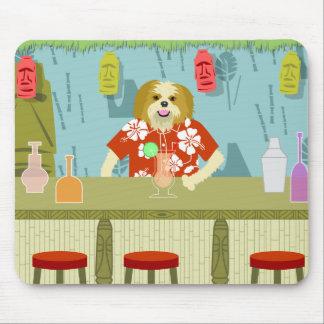 Shih Tzu Tiki Bar Mouse Pad
