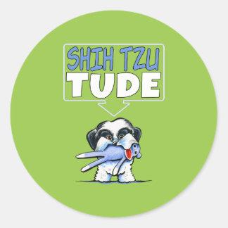 Shih Tzu Tude Dk Round Stickers
