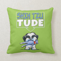 Shih Tzu Tude Dk Throw Pillow