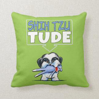Shih Tzu Tude Dk Throw Pillow