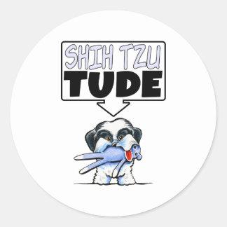 Shih Tzu Tude Round Stickers