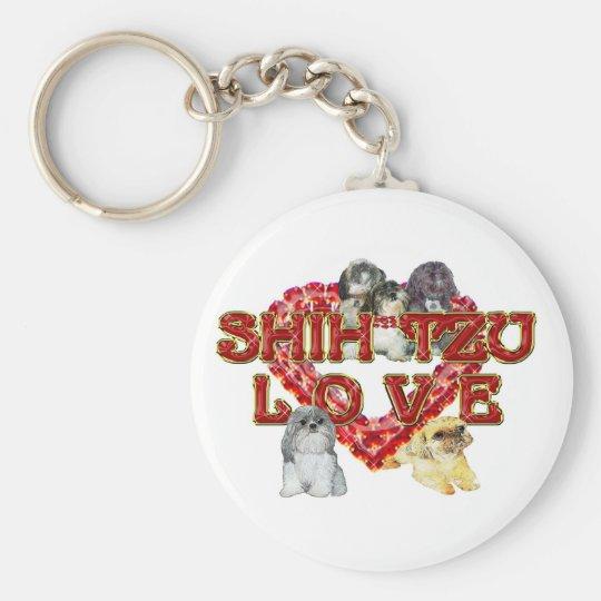 Shih Tzu Valentine Keychain