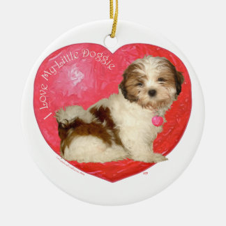 Shih Tzu Valentine's Day Ceramic Ornament