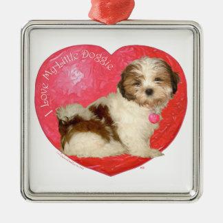 Shih Tzu Valentine's Day Metal Ornament