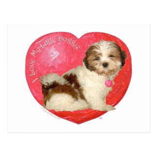 Shih Tzu Valentine's Day Postcard